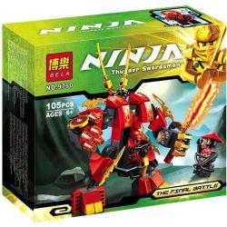 Lele 79110 Bela 9790 (NOT Lego Ninjago Movie 70500 Kai'S Fire Mech ) Xếp hình Robot Lửa Của Kai 105 khối