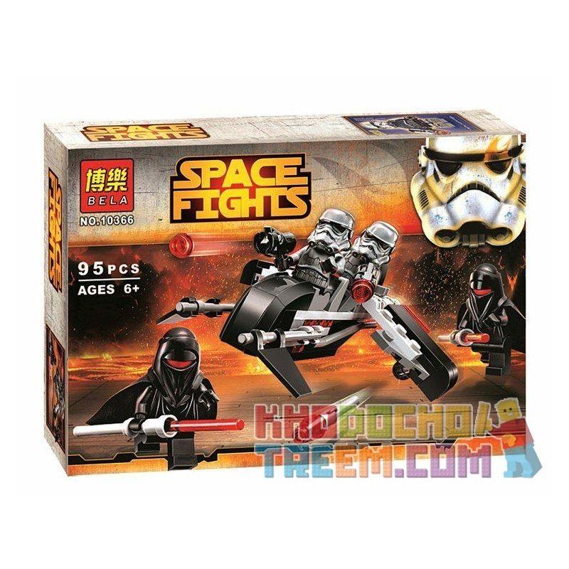 Bela 10366 Sheng Yuan SY503A Star Wars 75079 Shadow Troopers Xếp Hình Quân đội Bóng Ma Shadow Troopers 95 Khối
