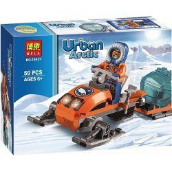 Bela 10437 (NOT Lego City 60032 Arctic Snowmobile ) Xếp hình Mô Tô Trượt Tuyết 50 khối