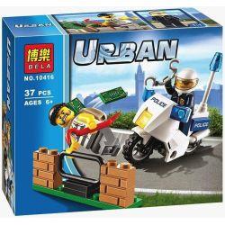 Bela 10416 (NOT Lego City 60041 Crook Pursuit ) Xếp hình Truy Bắt Tội Phạm 38 khối