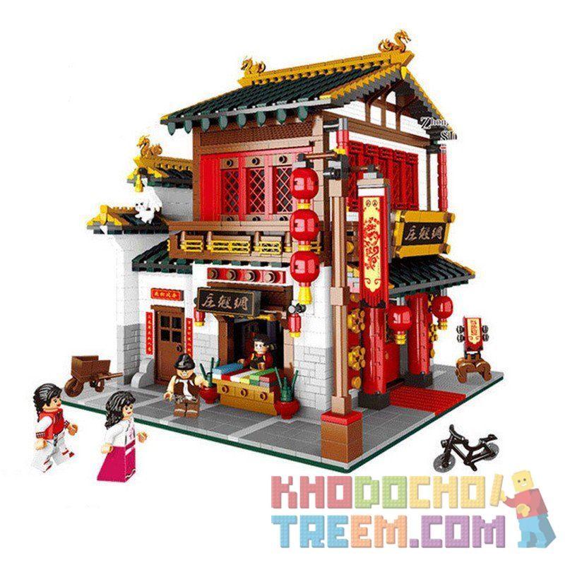 Lego Creator MOC XingBao XB-01001 Silk Zhuang Xếp hình Cửa hàng bán lụa cổ 2787 khối