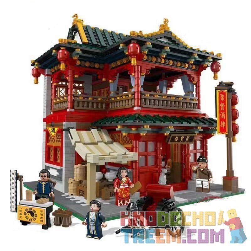 Lego Creator MOC XingBao xb-01002 Chinese Pub Xếp hình Quán rượu cổ 3267 khối