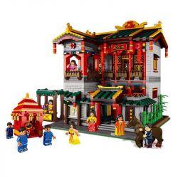 Xingbao XB-01003 (NOT Lego Modular Buildings China Town:yihong Brothel ) Xếp hình Kỹ Viện Lầu Xanh 3320 khối