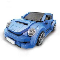 Lego Creator MOC XingBao XB-03015 Blue Volkswagen Beetle Xếp hình Ô tô bọ cánh cứng xanh da trời 944 khối