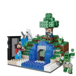 Lego Minecraft MOC XingBao xb-09001 Mini Landscape Xếp hình Khu tiểu cảnh 363 khối