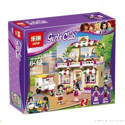 Lepin 01011 Sheng Yuan 880 SY880 Bela 10609 (NOT Lego Friends 41311 Heartlake Pizzeria ) Xếp hình Cửa Hàng Piza Hồ Trái Tim 299 khối