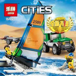 Lego City 60149 Lepin 02027 4x4 with Catamaran Xếp hình Xe con kéo thuyền buồm 212 khối