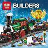 Lepin 36001 Creator 10254 Winter Holiday Train Xếp hình Đoàn Tàu Giáng Sinh 770 khối