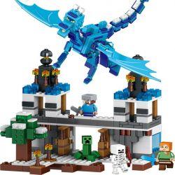 Lego Minecraft MOC Lepin 18020 Lele 79253 Blue Sky Dragon Xếp hình Rồng xanh 548 khối