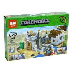 Lele 79148 Bela 10392 Lepin 18019 Minecraft 21121 The Desert Outpost Xếp Hình Pháo đài Sa Mạc 531 Khối