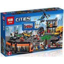 Lego City 60097 Lepin 02038 City Square Xếp hình Quảng trường thành phố 1767 khối
