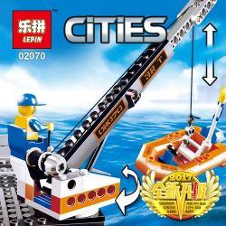 Lego City 4210 Lepin 02070 Coast Guard Platform Xếp hình Cảnh sát giám sát bờ biển 492 khối