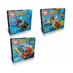Lepin 07035 (NOT Lego 76061 76062 76063 Mighty Micros: Batman Vs. Catwoman Mighty Micros: Robin Vs. Bane Mighty Micros: The Flash Vs. Captain Cold ) Xếp hình 3 Bộ Nhỏ 285 khối
