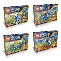 Lepin 14013 Nexo Knights MOC 4 in 1 Xếp hình 4 trong 1 417 khối
