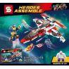 Decool 7120 Lepin 07022 Sheng Yuan 576 SY576 (NOT Lego Marvel Super Heroes 76049 Avenjet Space Mission ) Xếp hình Nhiệm Vụ Của Phi Thuyền Biệt Đội Siêu Anh Hùng 523 khối
