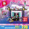 Bela 10538 Sheng Yuan SY578 Friends 41117 Pop Star TV Studio Xếp hình phòng ghi âm của ngôi sao nhạc nhẹ 197 khối