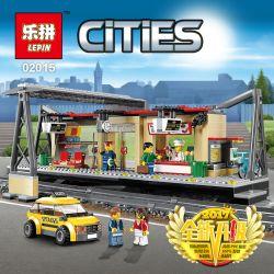 Lego City 60050 Lepin 02015 Train Station Xếp hình Nhà ga xe lửa 456 khối