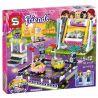 Lego Friends 41133 Lepin 01009 Sheng Yuan SY839 Bela 10560 Amusement Park Bumper Cars Xếp hình trò chơi đụng xe, xích đu 424 khối