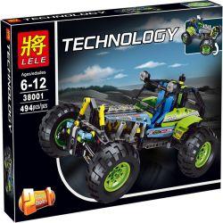 Lele 38001 Technic 42037 Formula Off-Roader Xếp hình Siêu Xe Địa Hình Công Thức 494 khối