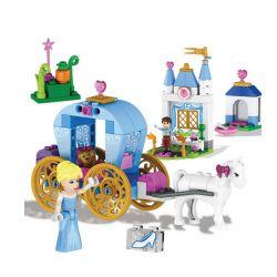 Lele 37002 Disney Princess MOC Cinderella Pumpkins Royal Carriage Xếp hình Xe ngựa bí ngô của Lọ lem 127 khối