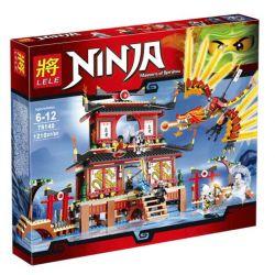 Lele 79140 Ninjago Movie 2507 Fire Temple Xếp hình Đền Lửa 1210 khối