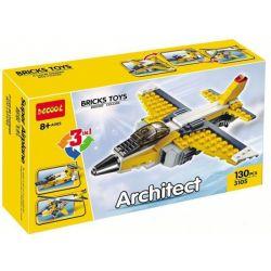Decool 3105 Creator 3 in 1 6912 Super Soarer Xếp hình Máy bay trực thăng, phản lực, xuồng cao tốc 130 khối