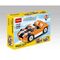 Decool 3108 (NOT Lego Creator 31017 Sunset Speeder ) Xếp hình Xe Đua, Xe Thể Thao, Xe Tải 119 khối
