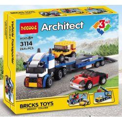 Decool 3114 (NOT Lego Creator 31033 Vehicle Transporter ) Xếp hình Vận Chuyển Xe Hơi 264 khối