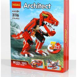 Decool 3116 (NOT Lego Creator 31024 Roaring Power ) Xếp hình Khủng Long, Thủy Phi Cơ, Xe Thể Thao 374 khối