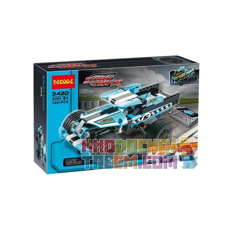Decool 3420 Technic 42059 Stunt-Truck Xếp hình Xe tải địa hình 142 khối