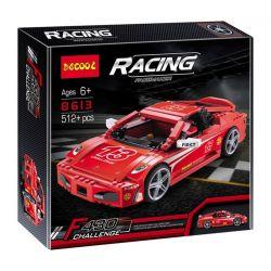 Decool 8613 (NOT Lego Creator 8143 Ferrari F430 Challenge 1:17 ) Xếp hình Siêu Xe Ferrari F430 Tỉ Lệ 1:17 690 khối