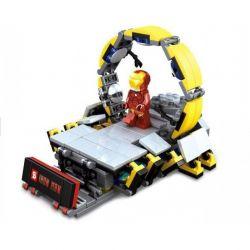 Lego Super Heroes MOC Sheng Yuan SY303 Iron Man Suit Up Stage Xếp hình Sàn sửa chữa giáp Người Sắt 217 khối