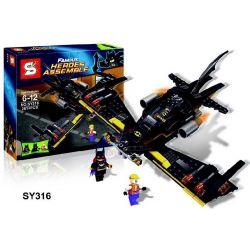 Sheng Yuan SY316 Super Heroes 76013 Batwing Xếp hình Phi thuyền Người Dơi 281 khối