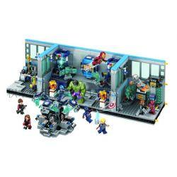 Lego Super Heroes MOC Sheng Yuan SY368 Avengers Headquarter Laboratory Xếp hình Phòng thí nghiệm của biệt đội siêu anh hùng 1521 khối