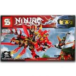 Sheng Yuan 544 SY544 (NOT Lego Ninjago Movie Hydreigon Spinjitzu Master Dragon ) Xếp hình Rồng Lửa Huyền Thoại 353 khối