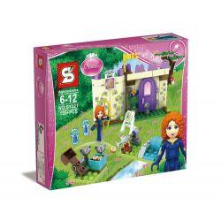 Sheng Yuan SY321 Disney Princess 41051 Merida's Highland Games Xếp hình Sân tập của công chúa tóc xù 155 khối