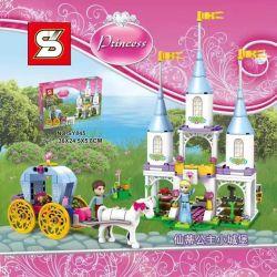 Sheng Yuan SY845 Disney Princess 10729 Cinderella's Carriage Xếp hình Cỗ xe thần tiên của Lọ Lem 240 khối