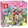 Bela 10565 Lepin 01010 Lele 37001 Sheng Yuan 821 SY821 (NOT Lego Disney Princess 41067 Belle's Enchanted Castle ) Xếp hình Lâu Đài Bị Phù Phép Người Đẹp Và Quái Vật 376 khối