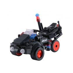 Woma C0512A (NOT Lego SWAT Special Force Swat Motorcycles ) Xếp hình Mô Tô 4 Bánh Lính Đặc Nhiệm 141 khối
