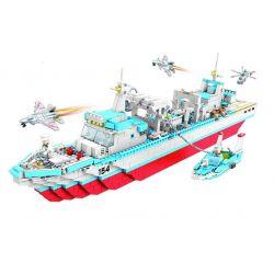 Woma C0154 Military Army MOC Battle Ship Xếp hình Tàu chiến 1223 khối