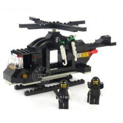 Woma C9703 Ultra Agents MOC SWAT Helicopter Xếp hình Máy bay trực thăng lính đặc nhiệm 214 khối