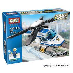 Xinlexin Gudi 9308 City Police Helicopter Xếp hình Trực Thăng Cảnh Sát 111 khối