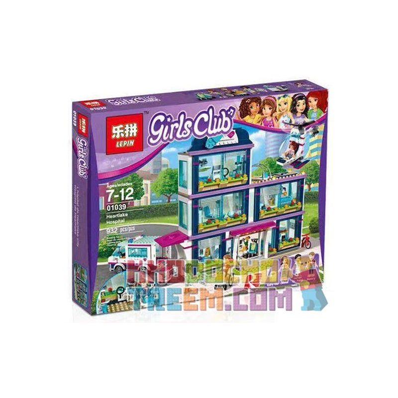 Lepin 01039 Bela 10761 Lele 37036 (NOT Lego Friends 41318 Heartlake Hospital ) Xếp hình Bệnh Viện Heartlake 932 khối