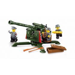 Lego Military Army MOC Enlighten 1704 Flak Cannon Xếp hình Đại Bác 124 khối