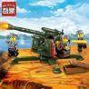 Enlighten 1704 Military Army MOC Flak Cannon Xếp hình Đại Bác 124 khối