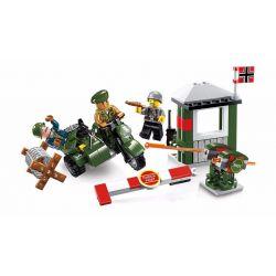 Lego Military Army MOC Enlighten 1702 Escape the alert area Xếp hình Trốn thoát khỏi khu vực cấm 96 khối