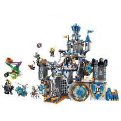 Lego Nexo Knights MOC Enlighten 2317 The War of Glory Battle Fortress Xếp hình Tấn công thành trì 1541 khối