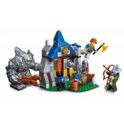 Lego Nexo Knights MOC Enlighten 2303 Defend Barrack Xếp hình Phòng thủ tại trại lính 134 khối