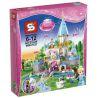 Lepin 25006 Lele 79279 Sheng Yuan 325 SY325 (NOT Lego Disney Princess 41055 Cinderella's Romantic Castle ) Xếp hình Lâu Đài Của Lọ Lem 697 khối