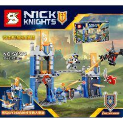 Sheng Yuan SY574 Nexo Knights MOC Library war Xếp hình Cuộc chiến bảo vệ thư viện 288 khối